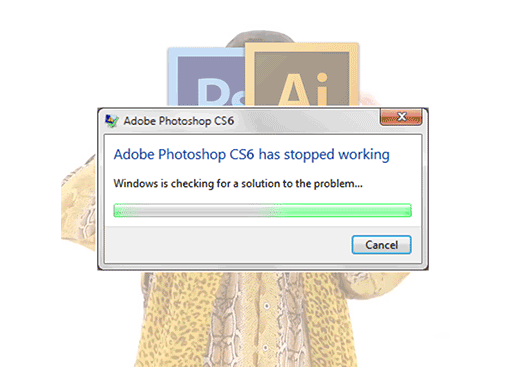 Why does my Photoshop stop responding when I tried to use