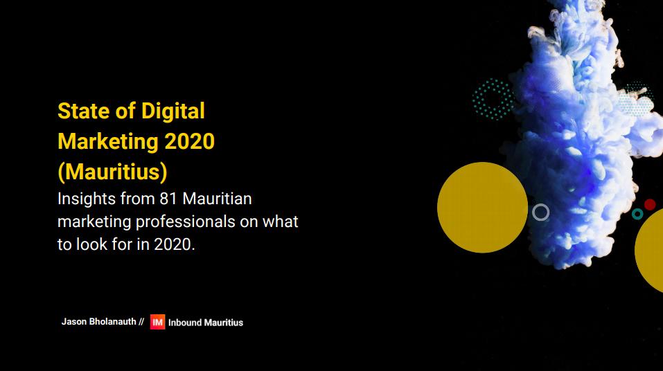 State of Digital Marketing 2020 (Mauritius)